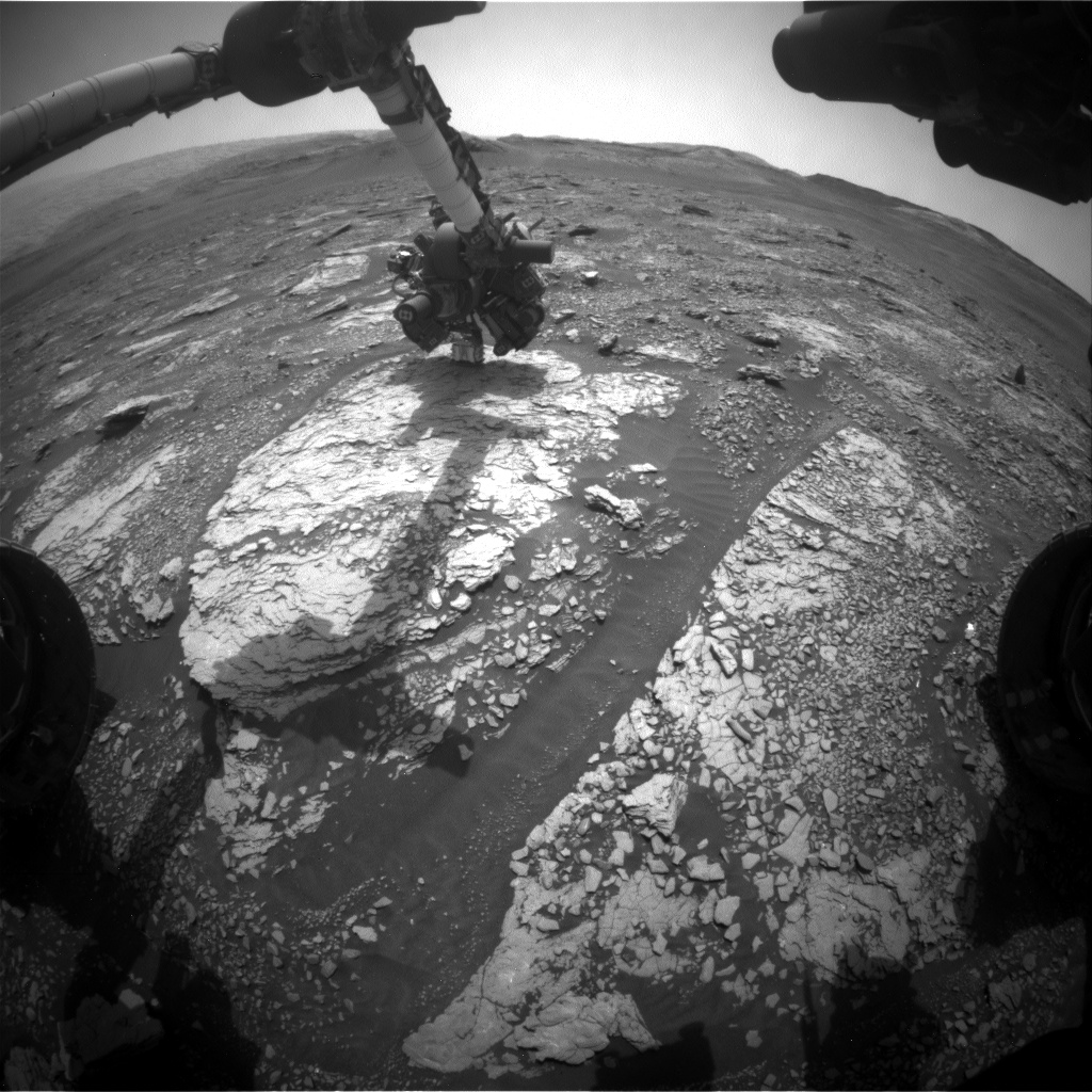 Nasa's Mars rover Curiosity acquired this image using its Front Hazard Avoidance Camera (Front Hazcam) on Sol 2860, at drive 2176, site number 82