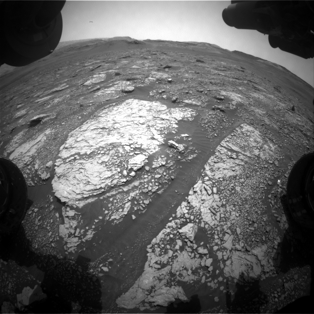 Nasa's Mars rover Curiosity acquired this image using its Front Hazard Avoidance Camera (Front Hazcam) on Sol 2861, at drive 2176, site number 82