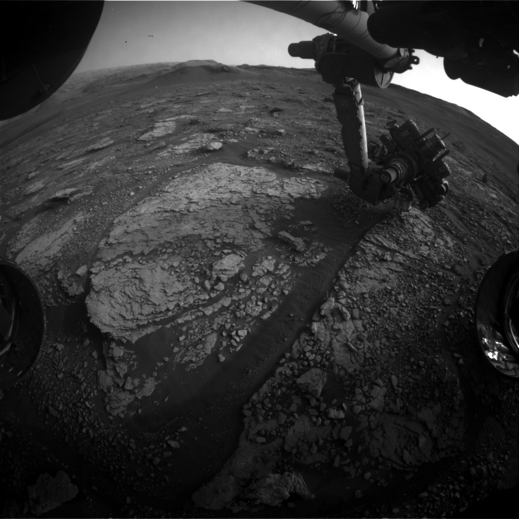 Nasa's Mars rover Curiosity acquired this image using its Front Hazard Avoidance Camera (Front Hazcam) on Sol 2862, at drive 2176, site number 82