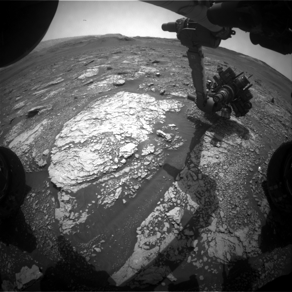 Nasa's Mars rover Curiosity acquired this image using its Front Hazard Avoidance Camera (Front Hazcam) on Sol 2863, at drive 2176, site number 82