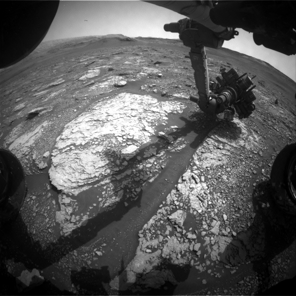 Nasa's Mars rover Curiosity acquired this image using its Front Hazard Avoidance Camera (Front Hazcam) on Sol 2864, at drive 2176, site number 82