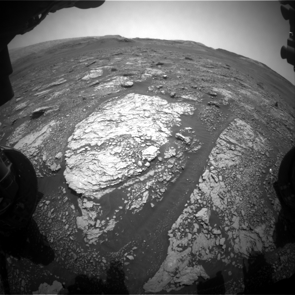 Nasa's Mars rover Curiosity acquired this image using its Front Hazard Avoidance Camera (Front Hazcam) on Sol 2866, at drive 2176, site number 82