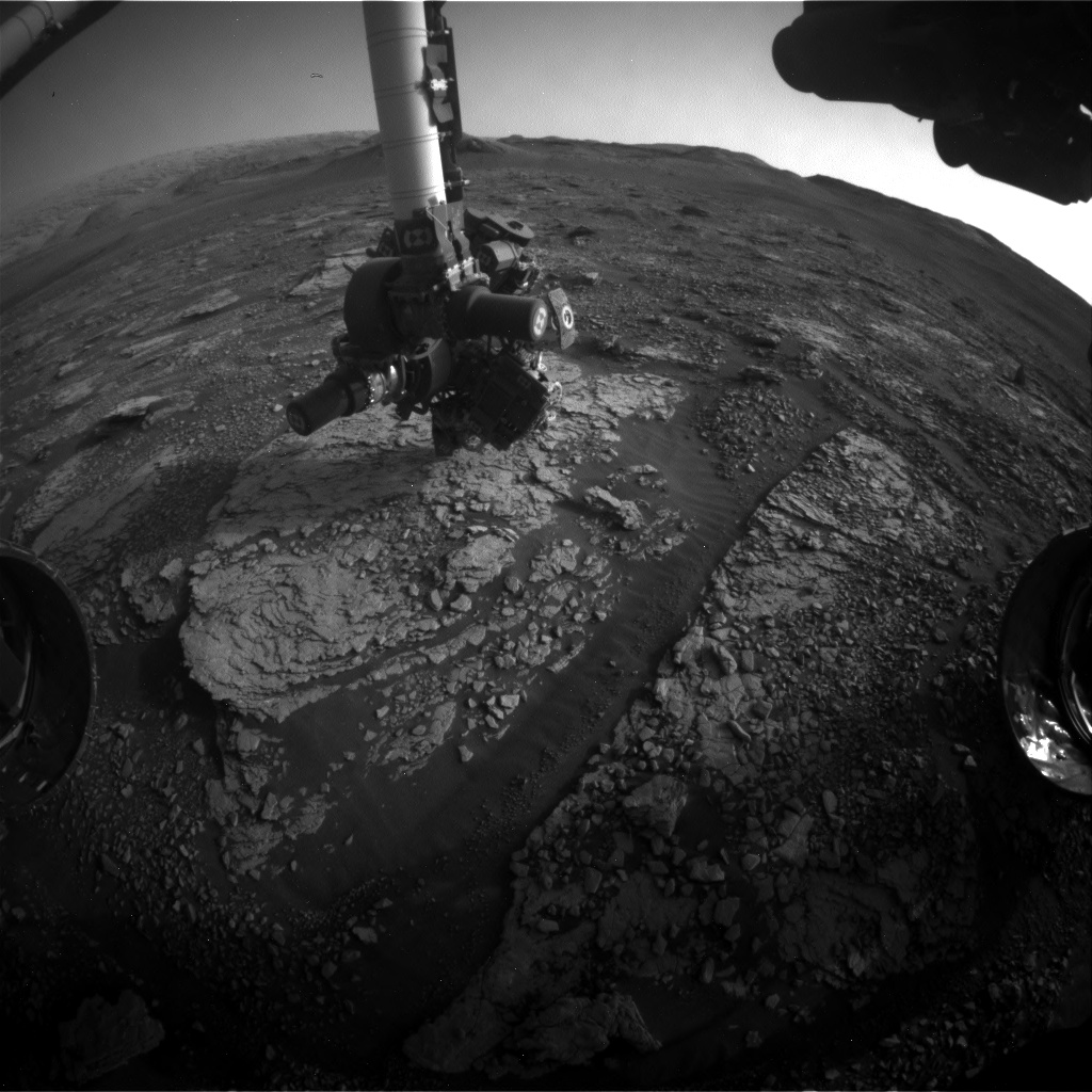 Nasa's Mars rover Curiosity acquired this image using its Front Hazard Avoidance Camera (Front Hazcam) on Sol 2867, at drive 2176, site number 82