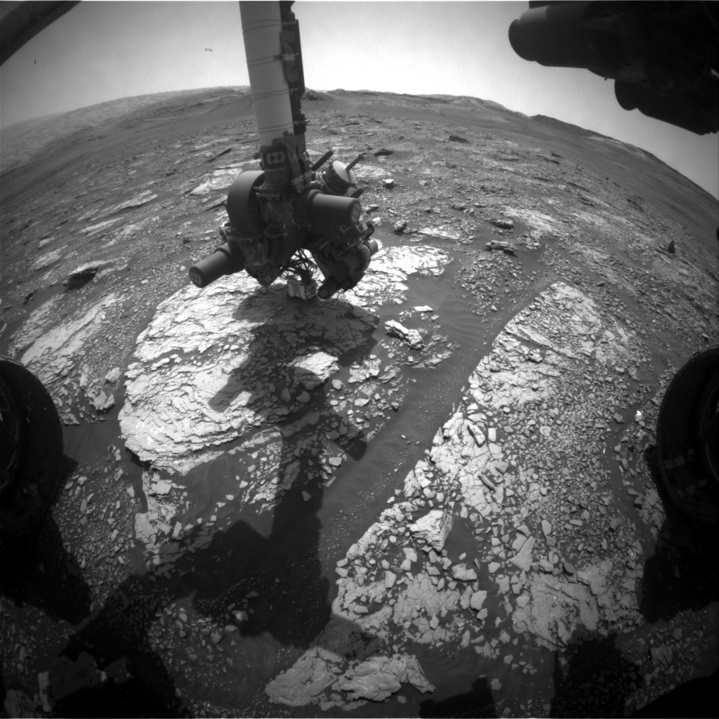 Nasa's Mars rover Curiosity acquired this image using its Front Hazard Avoidance Camera (Front Hazcam) on Sol 2868, at drive 2176, site number 82
