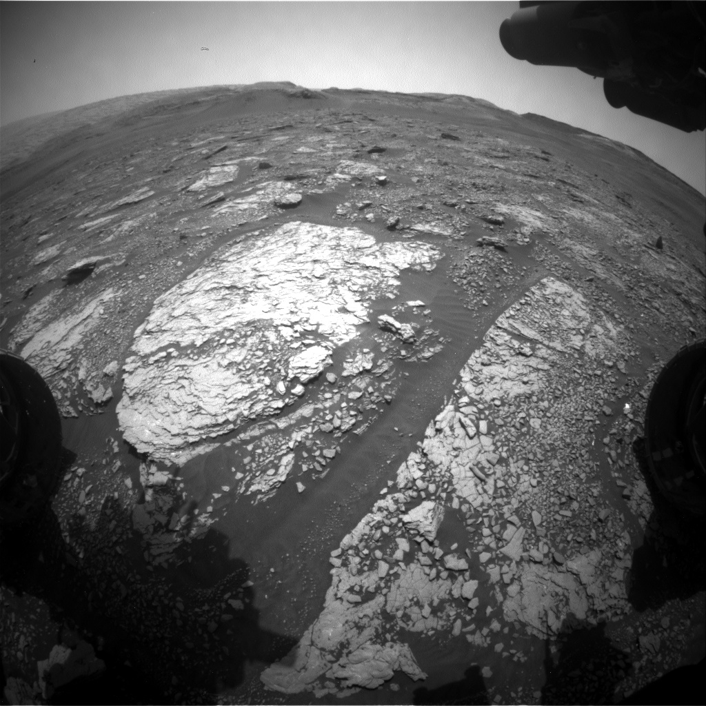 Nasa's Mars rover Curiosity acquired this image using its Front Hazard Avoidance Camera (Front Hazcam) on Sol 2869, at drive 2176, site number 82