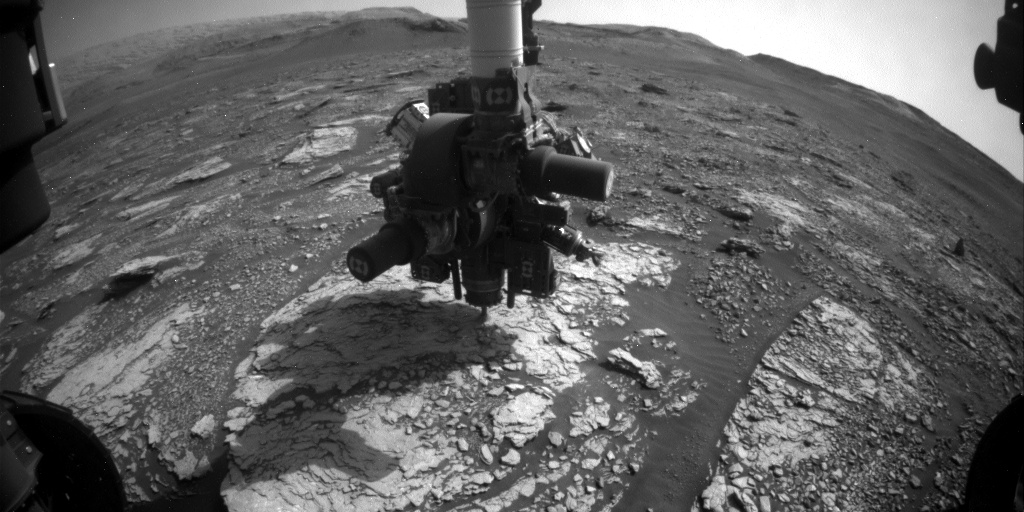 Nasa's Mars rover Curiosity acquired this image using its Front Hazard Avoidance Camera (Front Hazcam) on Sol 2870, at drive 2176, site number 82