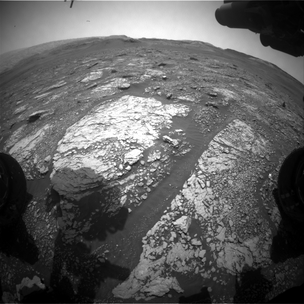 Nasa's Mars rover Curiosity acquired this image using its Front Hazard Avoidance Camera (Front Hazcam) on Sol 2871, at drive 2176, site number 82