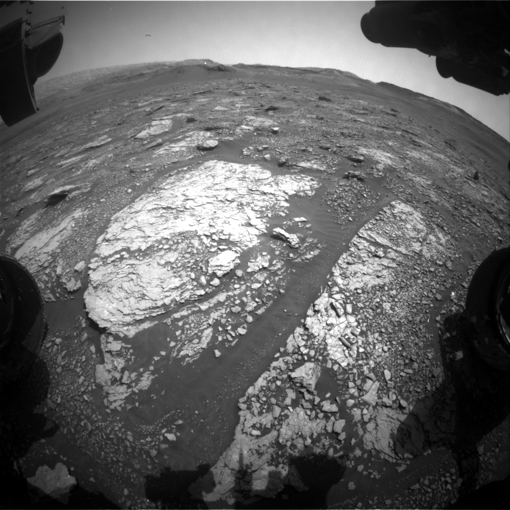 Nasa's Mars rover Curiosity acquired this image using its Front Hazard Avoidance Camera (Front Hazcam) on Sol 2872, at drive 2176, site number 82