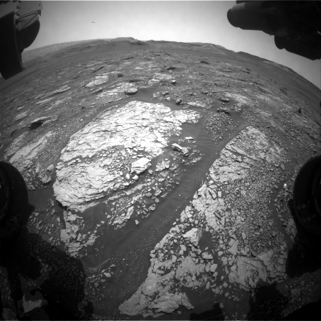 Nasa's Mars rover Curiosity acquired this image using its Front Hazard Avoidance Camera (Front Hazcam) on Sol 2873, at drive 2176, site number 82