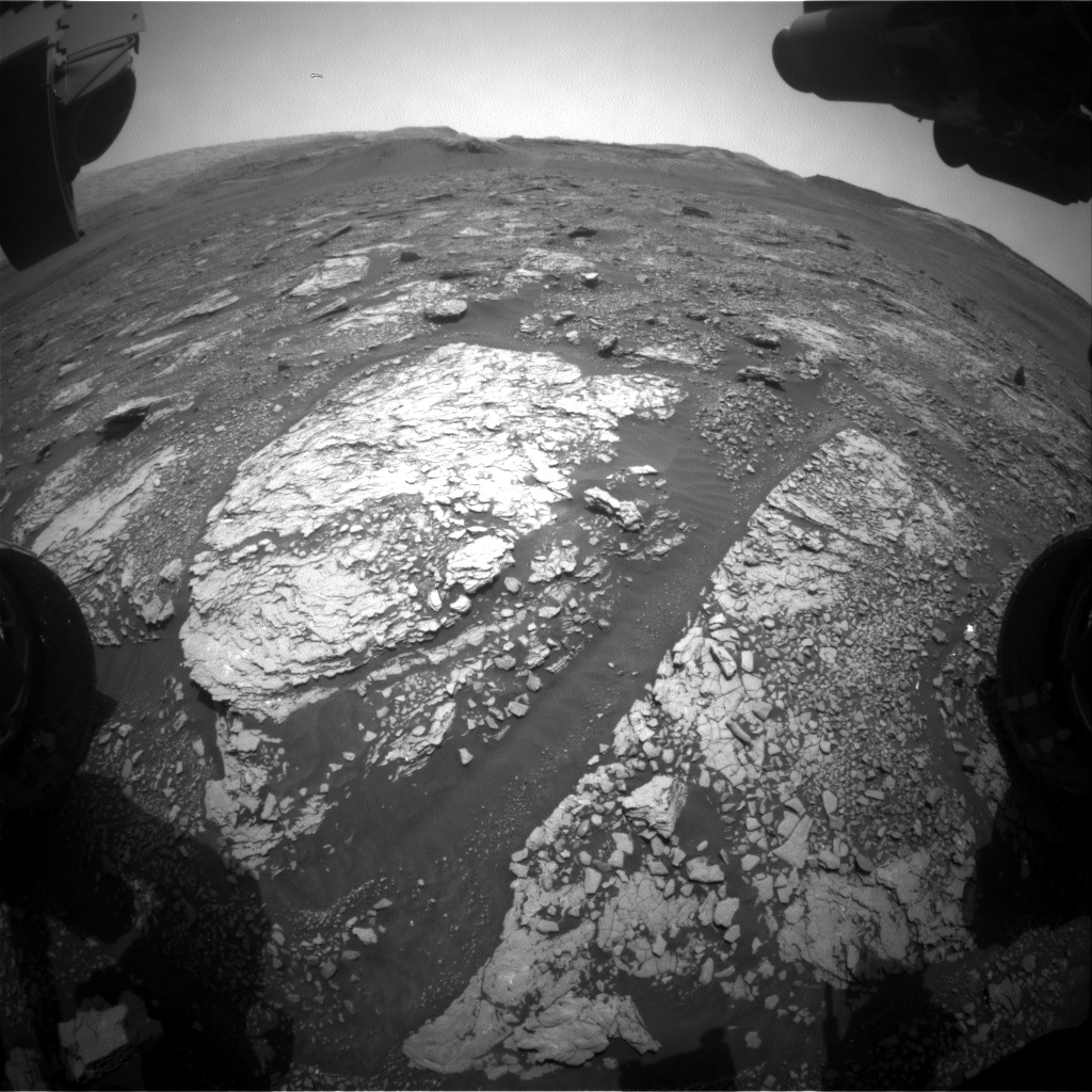Nasa's Mars rover Curiosity acquired this image using its Front Hazard Avoidance Camera (Front Hazcam) on Sol 2874, at drive 2176, site number 82