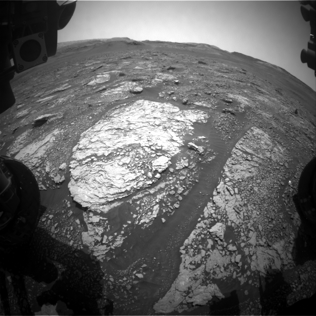 Nasa's Mars rover Curiosity acquired this image using its Front Hazard Avoidance Camera (Front Hazcam) on Sol 2877, at drive 2176, site number 82