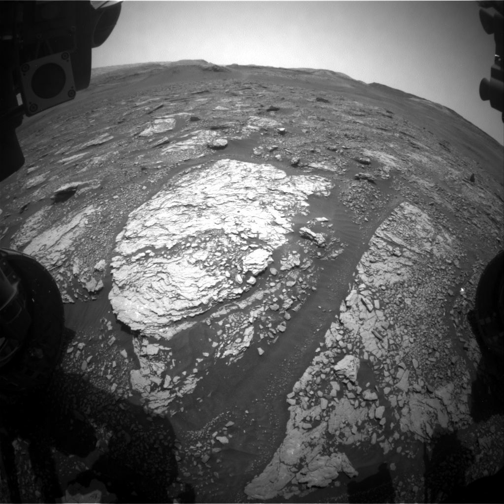 Nasa's Mars rover Curiosity acquired this image using its Front Hazard Avoidance Camera (Front Hazcam) on Sol 2878, at drive 2176, site number 82