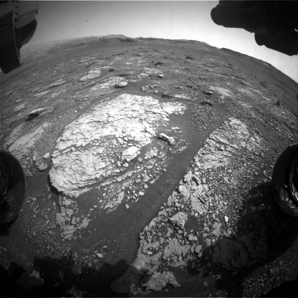 Nasa's Mars rover Curiosity acquired this image using its Front Hazard Avoidance Camera (Front Hazcam) on Sol 2879, at drive 2176, site number 82