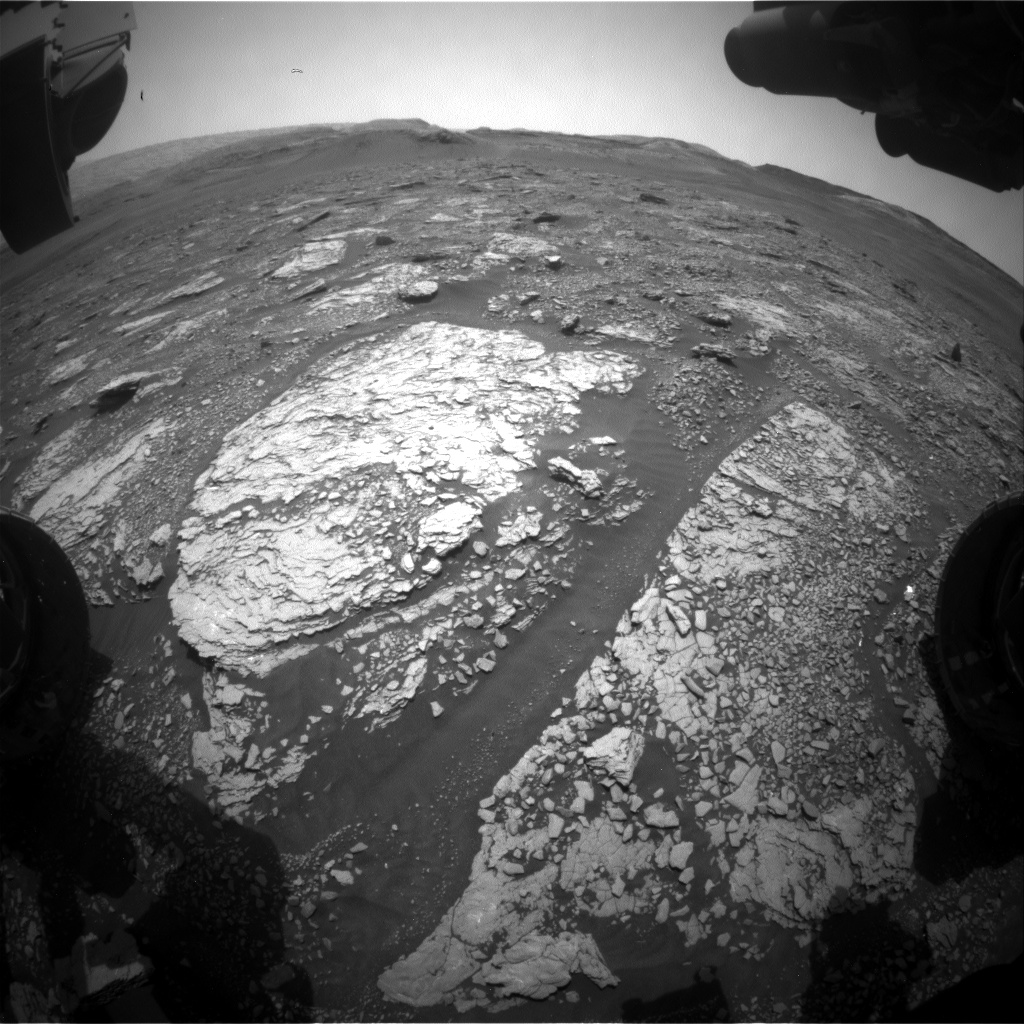 Nasa's Mars rover Curiosity acquired this image using its Front Hazard Avoidance Camera (Front Hazcam) on Sol 2882, at drive 2176, site number 82