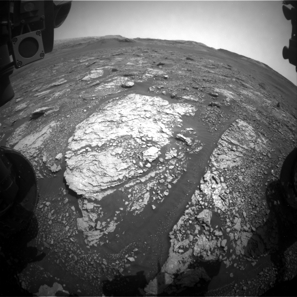 Nasa's Mars rover Curiosity acquired this image using its Front Hazard Avoidance Camera (Front Hazcam) on Sol 2883, at drive 2176, site number 82