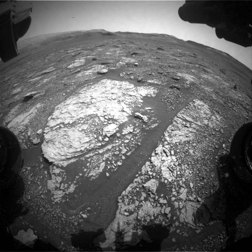 Nasa's Mars rover Curiosity acquired this image using its Front Hazard Avoidance Camera (Front Hazcam) on Sol 2884, at drive 2176, site number 82