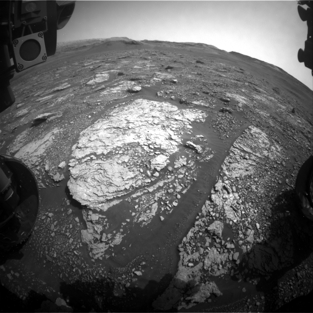 Nasa's Mars rover Curiosity acquired this image using its Front Hazard Avoidance Camera (Front Hazcam) on Sol 2885, at drive 2176, site number 82