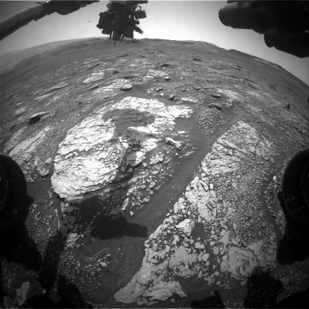 Nasa's Mars rover Curiosity acquired this image using its Front Hazard Avoidance Camera (Front Hazcam) on Sol 2888, at drive 2176, site number 82