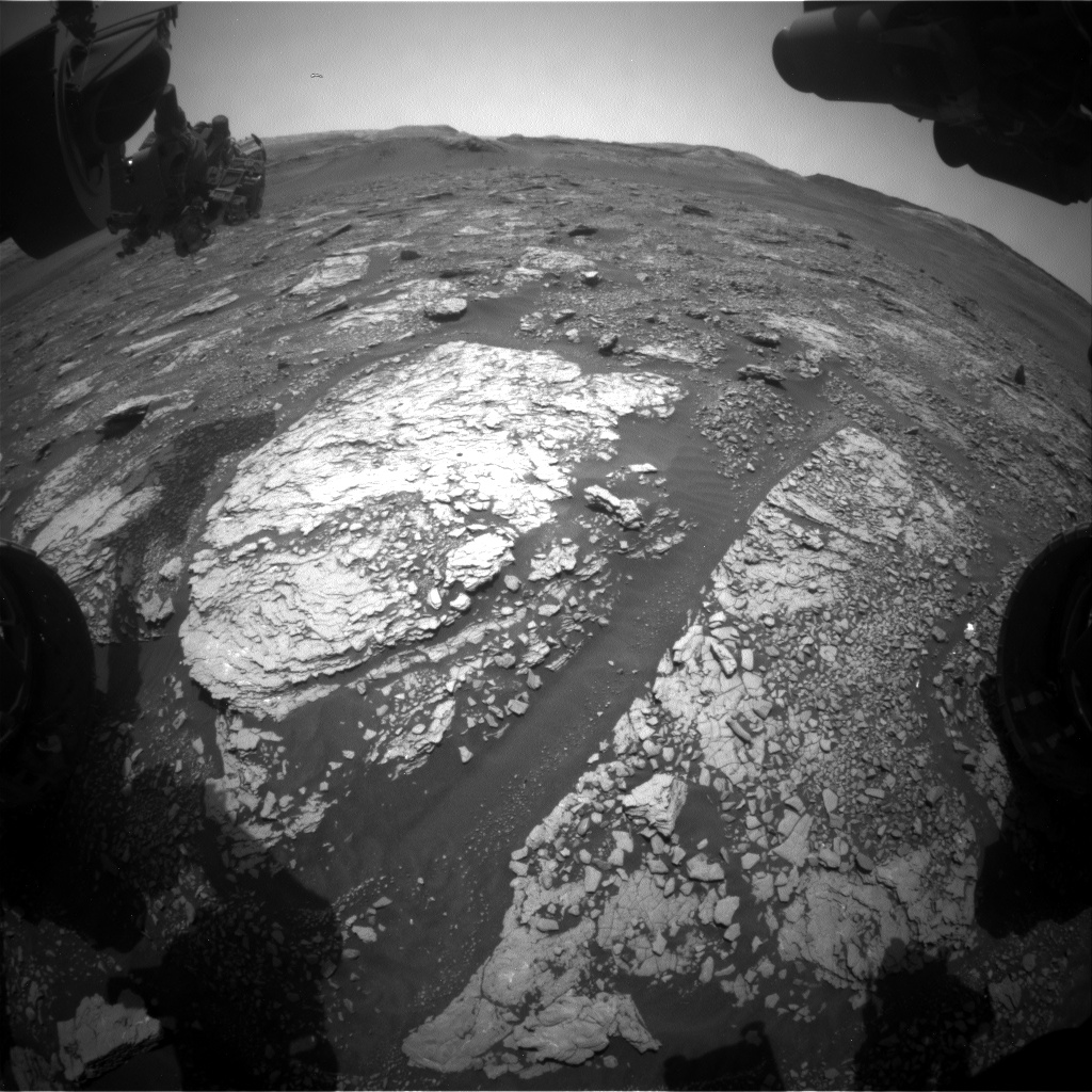 Nasa's Mars rover Curiosity acquired this image using its Front Hazard Avoidance Camera (Front Hazcam) on Sol 2893, at drive 2176, site number 82