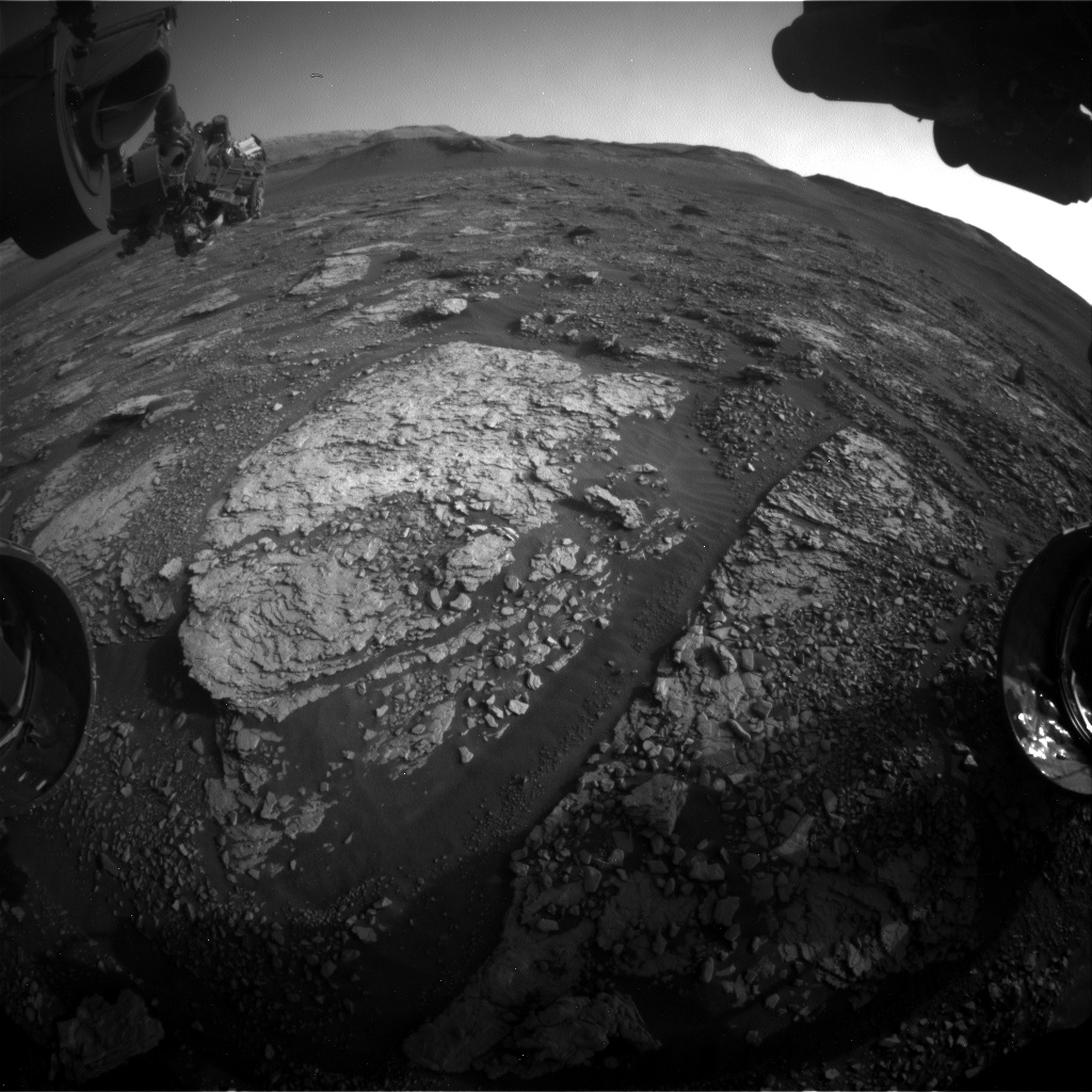 Nasa's Mars rover Curiosity acquired this image using its Front Hazard Avoidance Camera (Front Hazcam) on Sol 2894, at drive 2176, site number 82