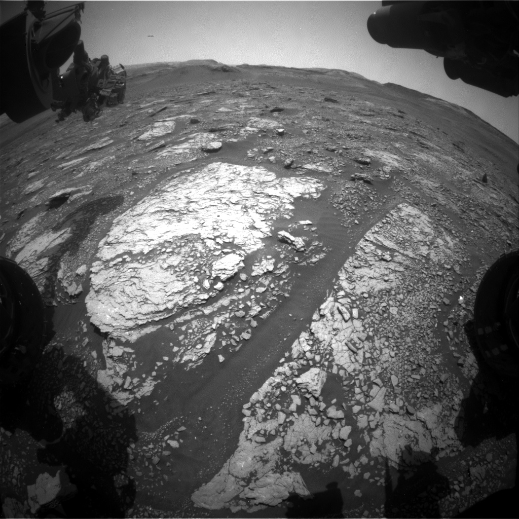 Nasa's Mars rover Curiosity acquired this image using its Front Hazard Avoidance Camera (Front Hazcam) on Sol 2895, at drive 2176, site number 82