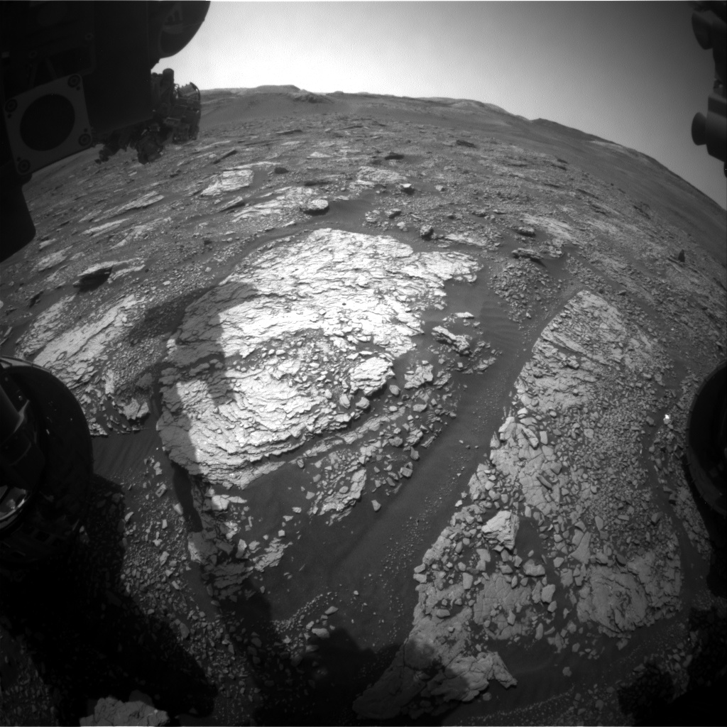 Nasa's Mars rover Curiosity acquired this image using its Front Hazard Avoidance Camera (Front Hazcam) on Sol 2896, at drive 2176, site number 82