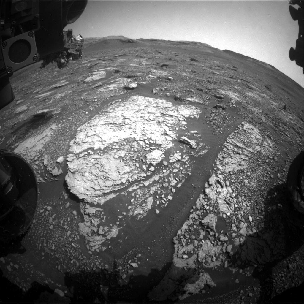 Nasa's Mars rover Curiosity acquired this image using its Front Hazard Avoidance Camera (Front Hazcam) on Sol 2897, at drive 2176, site number 82