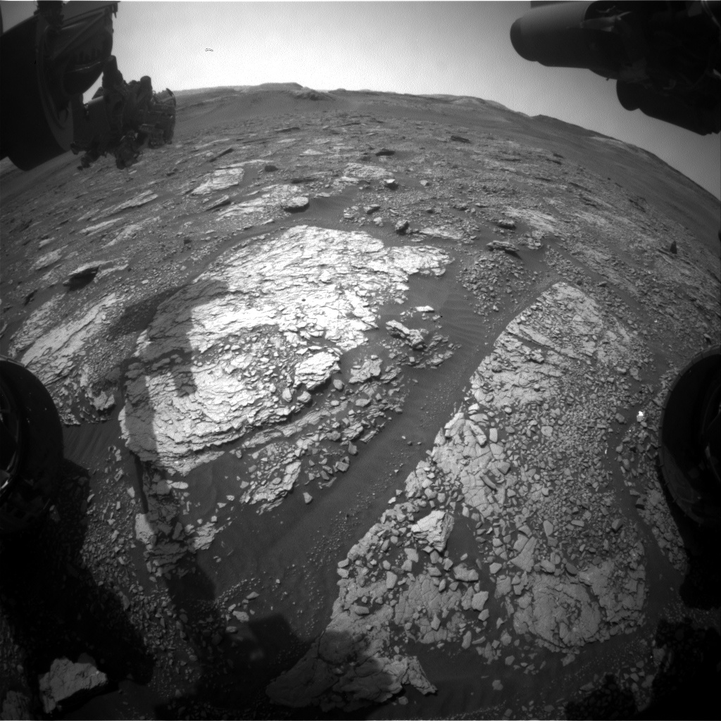 Nasa's Mars rover Curiosity acquired this image using its Front Hazard Avoidance Camera (Front Hazcam) on Sol 2903, at drive 2176, site number 82
