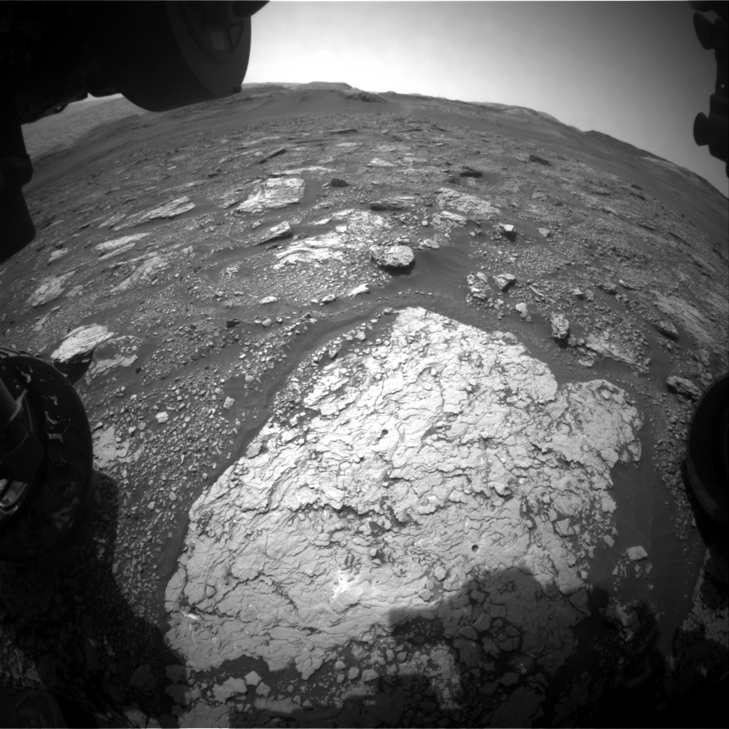Nasa's Mars rover Curiosity acquired this image using its Front Hazard Avoidance Camera (Front Hazcam) on Sol 2905, at drive 2188, site number 82
