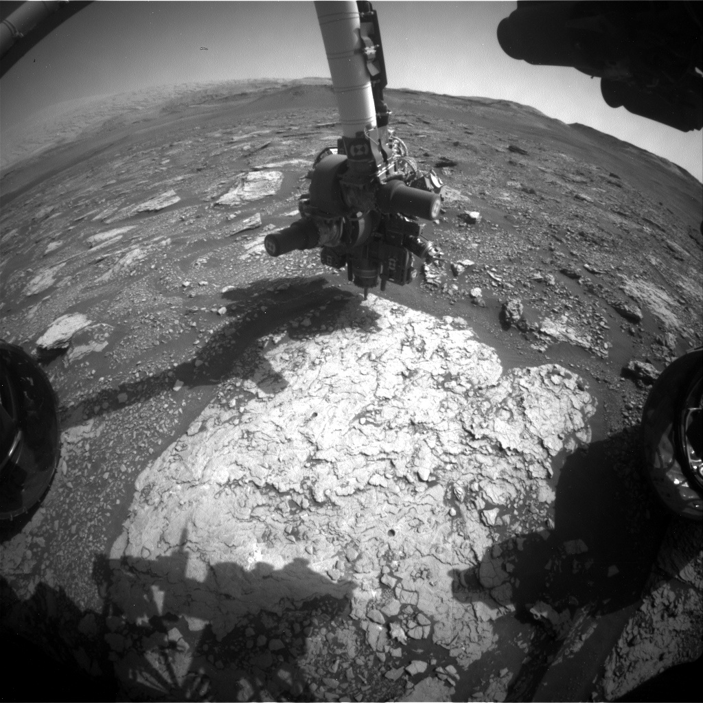 Nasa's Mars rover Curiosity acquired this image using its Front Hazard Avoidance Camera (Front Hazcam) on Sol 2906, at drive 2188, site number 82