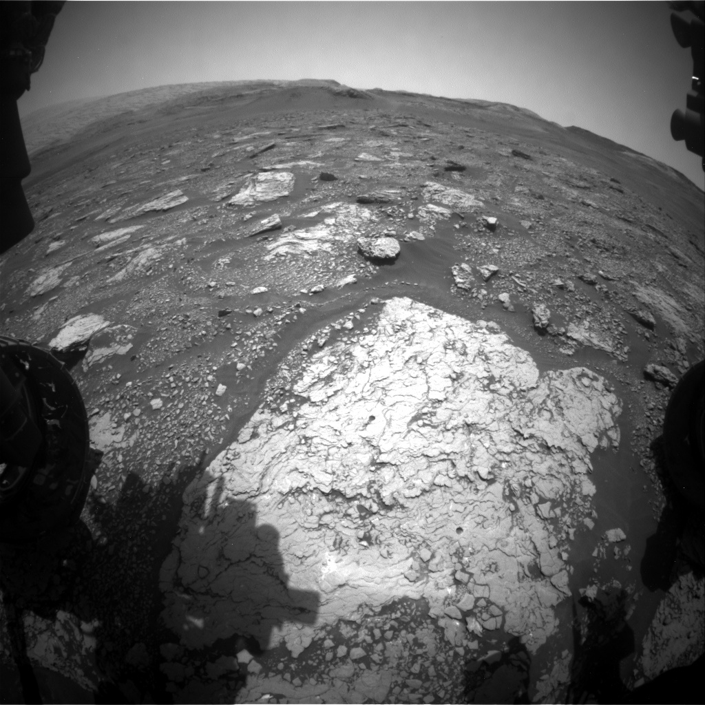 Nasa's Mars rover Curiosity acquired this image using its Front Hazard Avoidance Camera (Front Hazcam) on Sol 2907, at drive 2188, site number 82