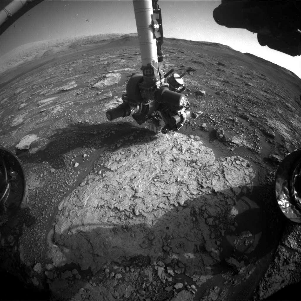 Nasa's Mars rover Curiosity acquired this image using its Front Hazard Avoidance Camera (Front Hazcam) on Sol 2908, at drive 2188, site number 82