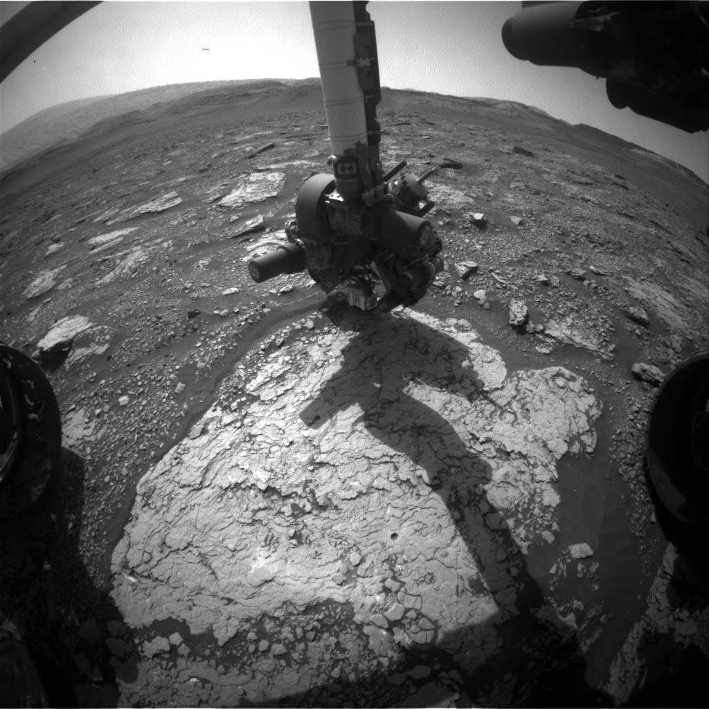 Nasa's Mars rover Curiosity acquired this image using its Front Hazard Avoidance Camera (Front Hazcam) on Sol 2909, at drive 2188, site number 82