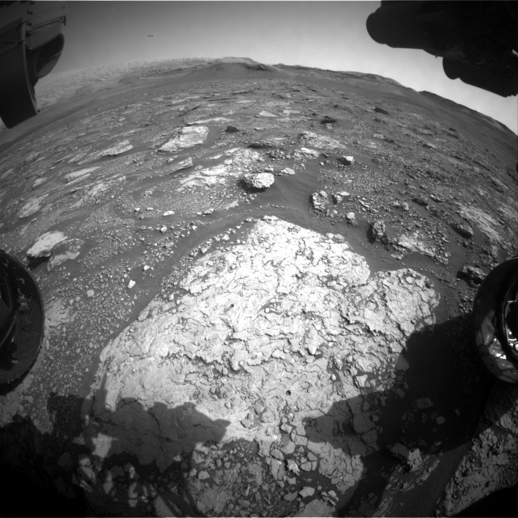 Nasa's Mars rover Curiosity acquired this image using its Front Hazard Avoidance Camera (Front Hazcam) on Sol 2910, at drive 2188, site number 82