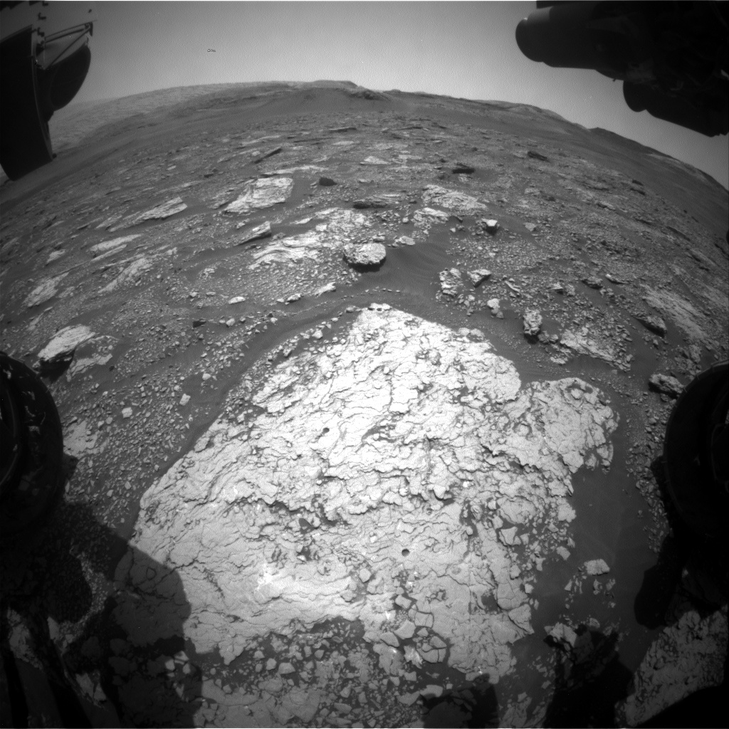 Nasa's Mars rover Curiosity acquired this image using its Front Hazard Avoidance Camera (Front Hazcam) on Sol 2911, at drive 2188, site number 82