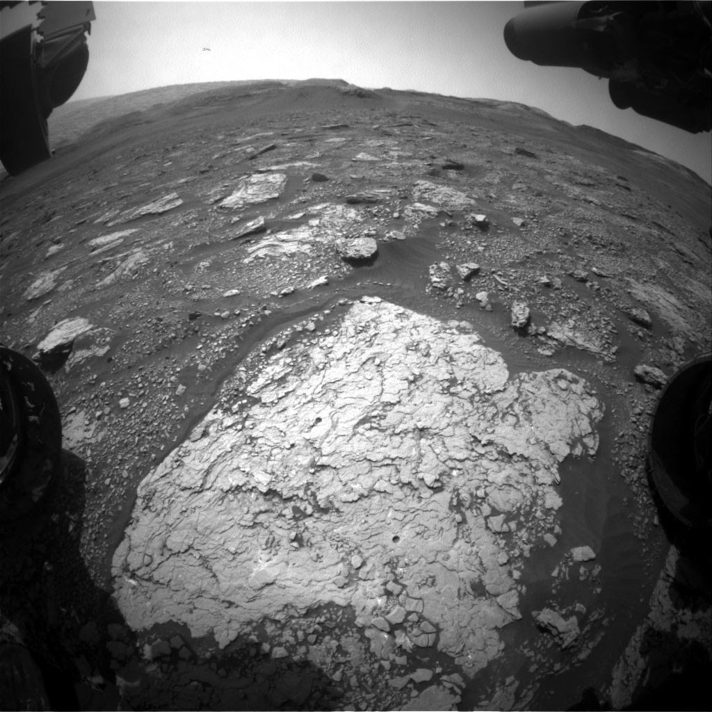 Nasa's Mars rover Curiosity acquired this image using its Front Hazard Avoidance Camera (Front Hazcam) on Sol 2916, at drive 2188, site number 82