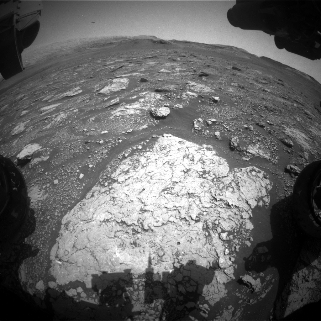 Nasa's Mars rover Curiosity acquired this image using its Front Hazard Avoidance Camera (Front Hazcam) on Sol 2918, at drive 2188, site number 82