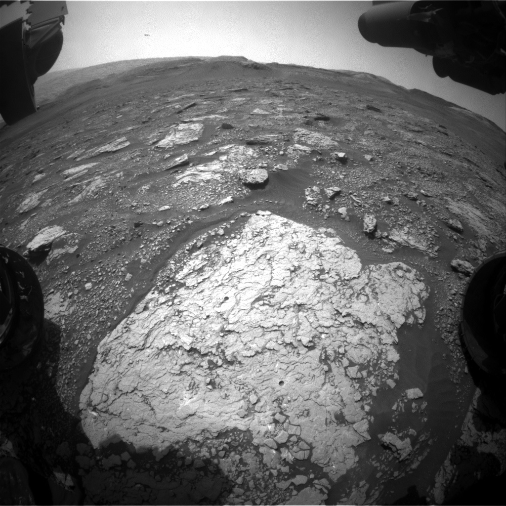 Nasa's Mars rover Curiosity acquired this image using its Front Hazard Avoidance Camera (Front Hazcam) on Sol 2919, at drive 2188, site number 82