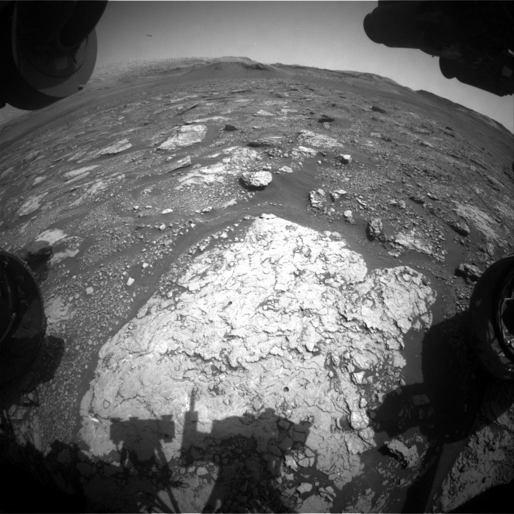 Nasa's Mars rover Curiosity acquired this image using its Front Hazard Avoidance Camera (Front Hazcam) on Sol 2920, at drive 2188, site number 82