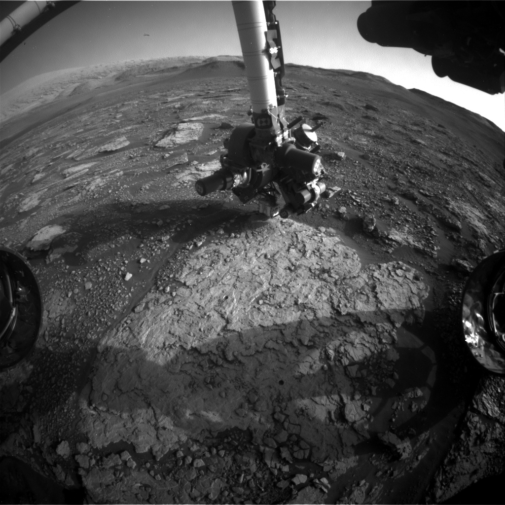 Nasa's Mars rover Curiosity acquired this image using its Front Hazard Avoidance Camera (Front Hazcam) on Sol 2921, at drive 2188, site number 82