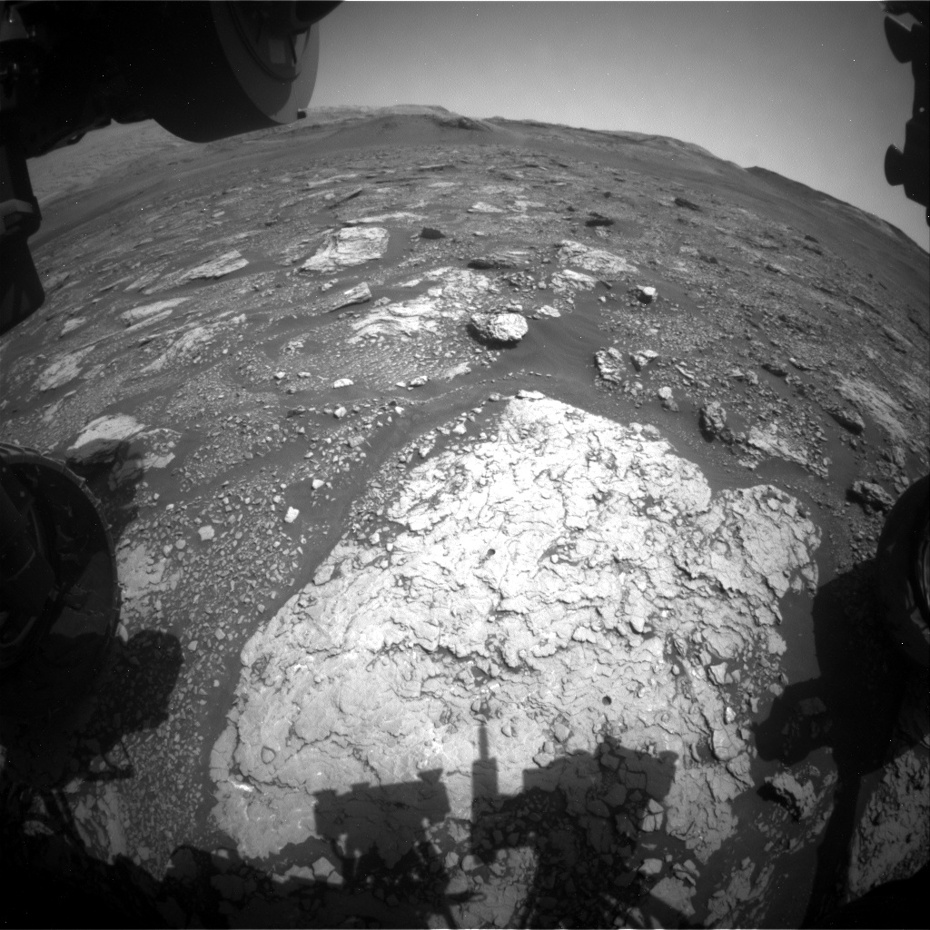 Nasa's Mars rover Curiosity acquired this image using its Front Hazard Avoidance Camera (Front Hazcam) on Sol 2922, at drive 2188, site number 82