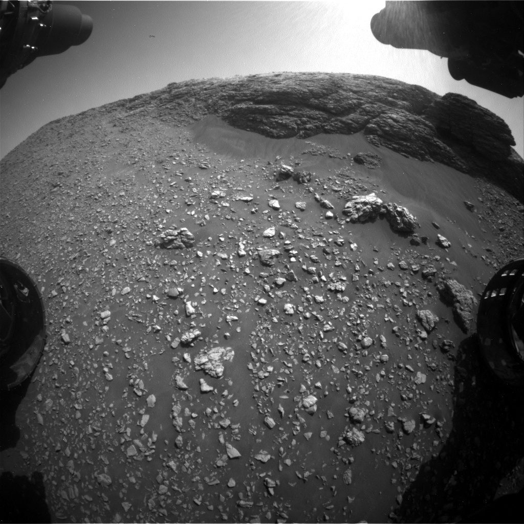 Nasa's Mars rover Curiosity acquired this image using its Front Hazard Avoidance Camera (Front Hazcam) on Sol 2923, at drive 2638, site number 82