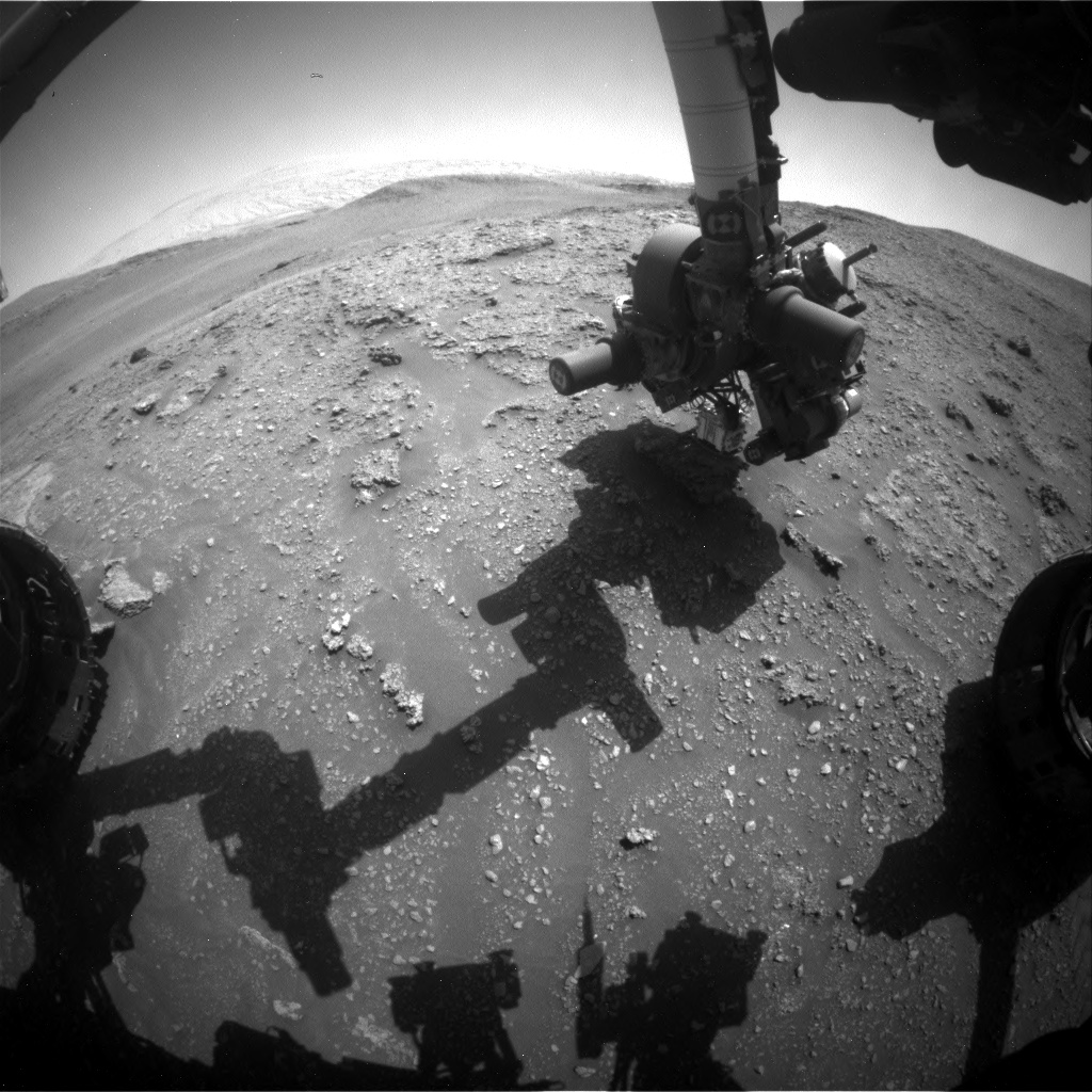 Nasa's Mars rover Curiosity acquired this image using its Front Hazard Avoidance Camera (Front Hazcam) on Sol 2929, at drive 306, site number 83