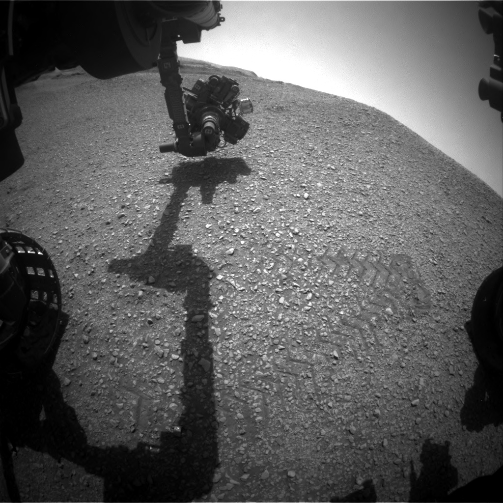 Nasa's Mars rover Curiosity acquired this image using its Front Hazard Avoidance Camera (Front Hazcam) on Sol 2931, at drive 424, site number 83