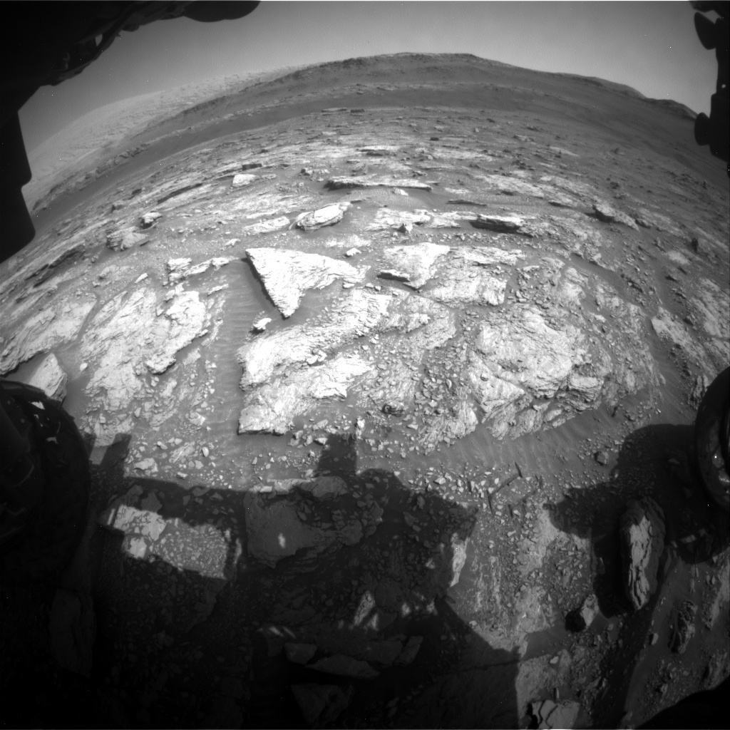 Nasa's Mars rover Curiosity acquired this image using its Front Hazard Avoidance Camera (Front Hazcam) on Sol 2933, at drive 932, site number 83