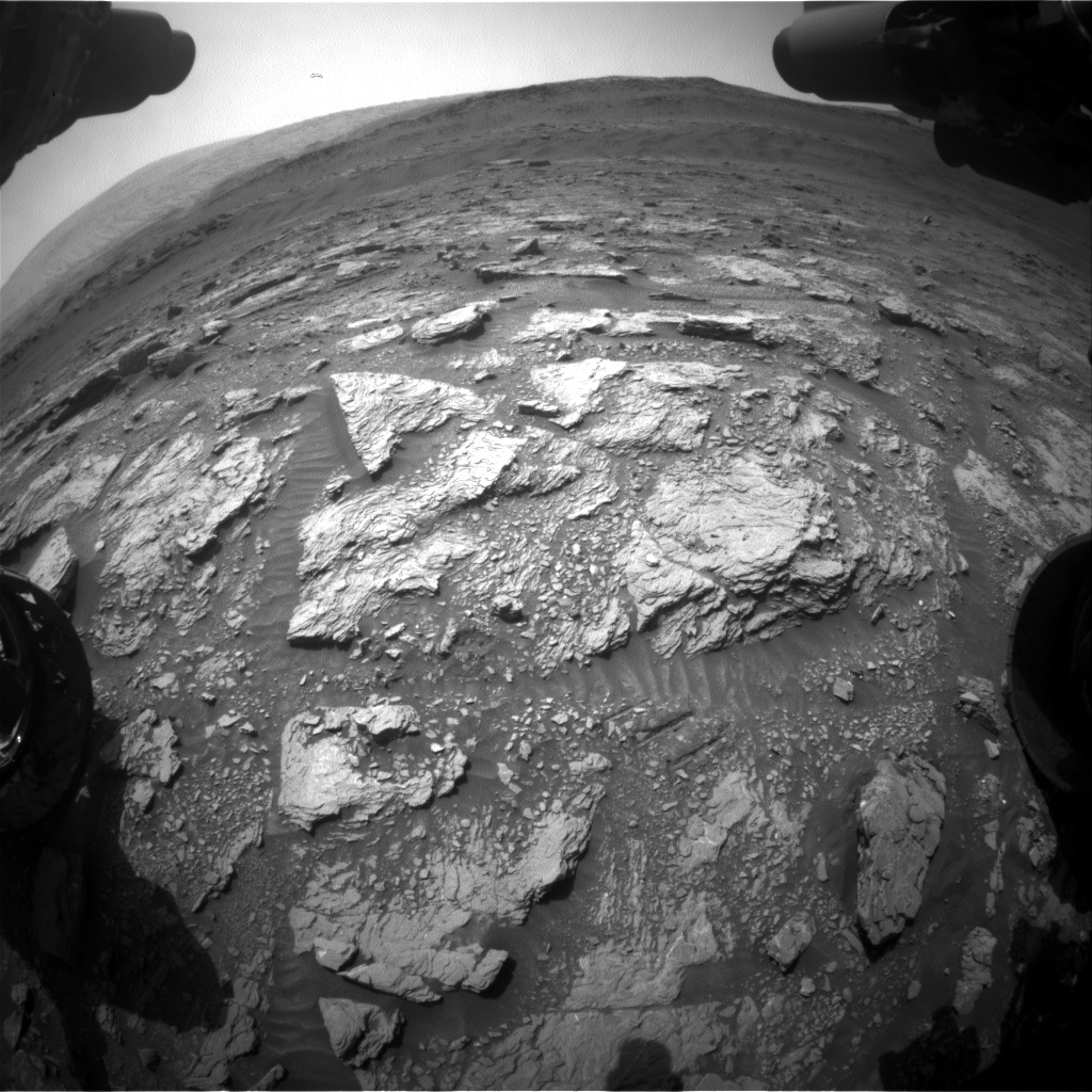 Nasa's Mars rover Curiosity acquired this image using its Front Hazard Avoidance Camera (Front Hazcam) on Sol 2934, at drive 932, site number 83