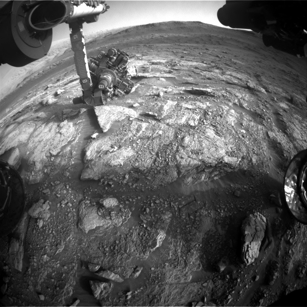 Nasa's Mars rover Curiosity acquired this image using its Front Hazard Avoidance Camera (Front Hazcam) on Sol 2935, at drive 932, site number 83