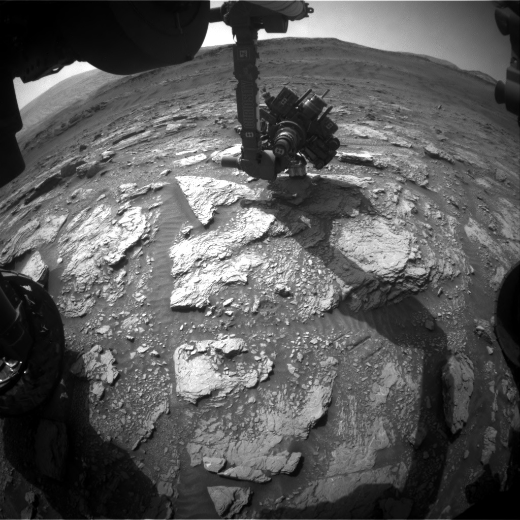 Nasa's Mars rover Curiosity acquired this image using its Front Hazard Avoidance Camera (Front Hazcam) on Sol 2936, at drive 932, site number 83