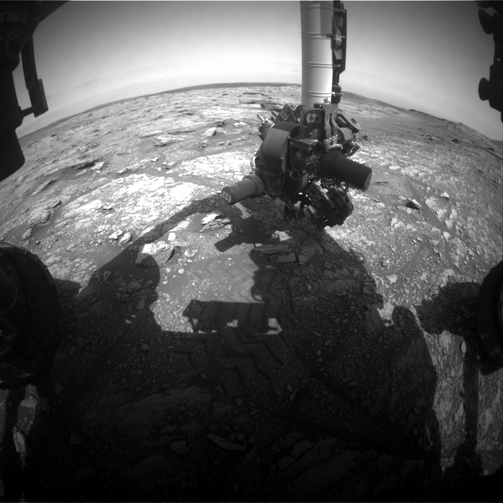 Nasa's Mars rover Curiosity acquired this image using its Front Hazard Avoidance Camera (Front Hazcam) on Sol 2938, at drive 1278, site number 83