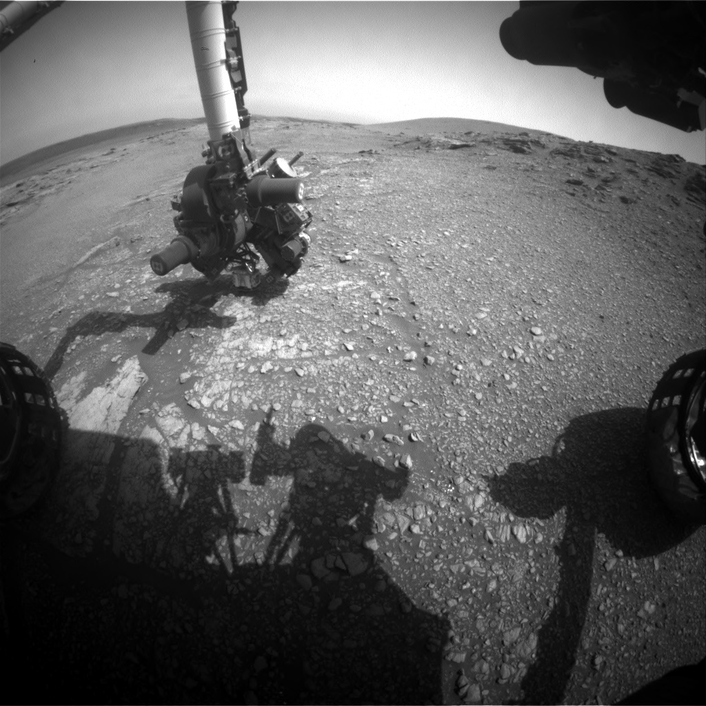 Nasa's Mars rover Curiosity acquired this image using its Front Hazard Avoidance Camera (Front Hazcam) on Sol 2940, at drive 1518, site number 83